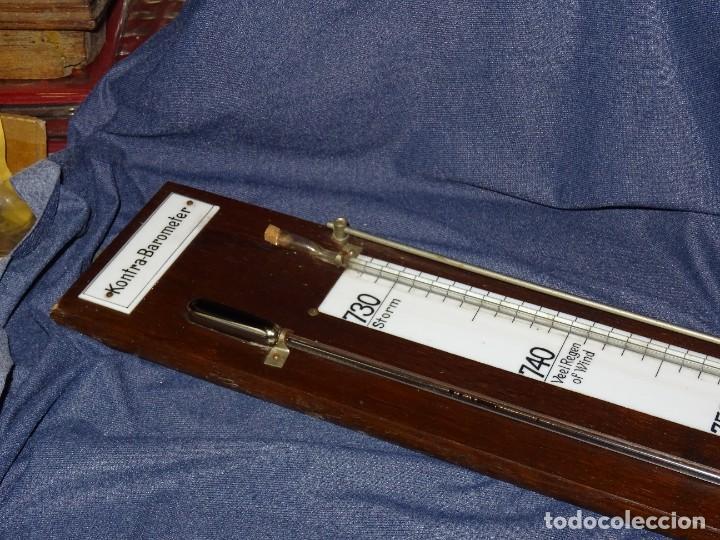 Antigüedades: ANTIGUA BAROMETRO KONTRA BAROMETER - 102X13CM, SEÑALES DE USO NORMALES - Foto 8 - 277695108