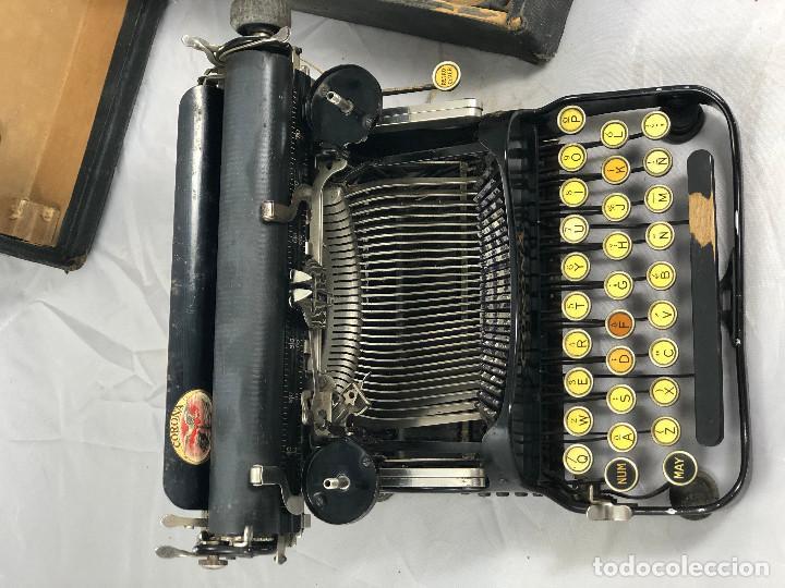 Antigüedades: Antigua maquina de escribir Corona Typewriter company, 3, portatil plegable. con caja original. - Foto 4 - 277738138