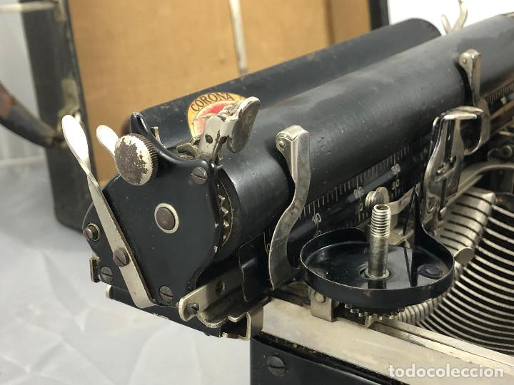 Antigüedades: Antigua maquina de escribir Corona Typewriter company, 3, portatil plegable. con caja original. - Foto 5 - 277738138