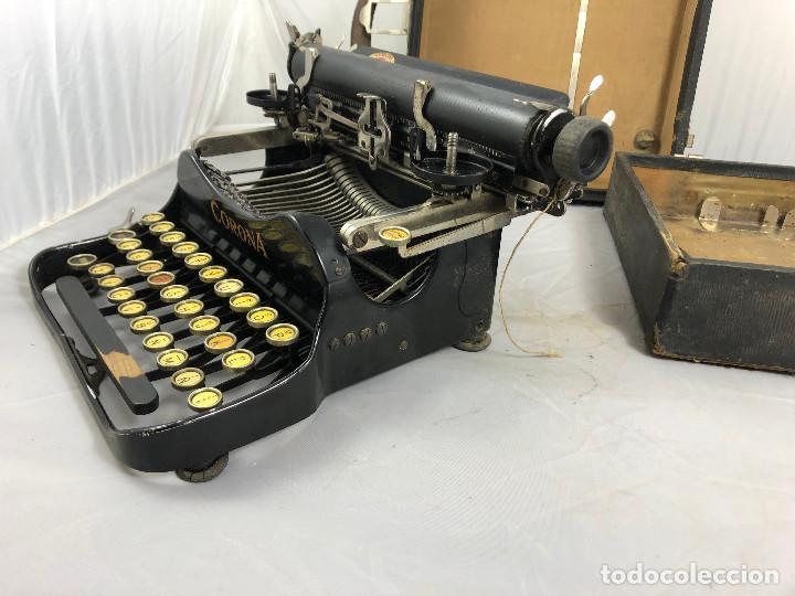 Antigüedades: Antigua maquina de escribir Corona Typewriter company, 3, portatil plegable. con caja original. - Foto 7 - 277738138