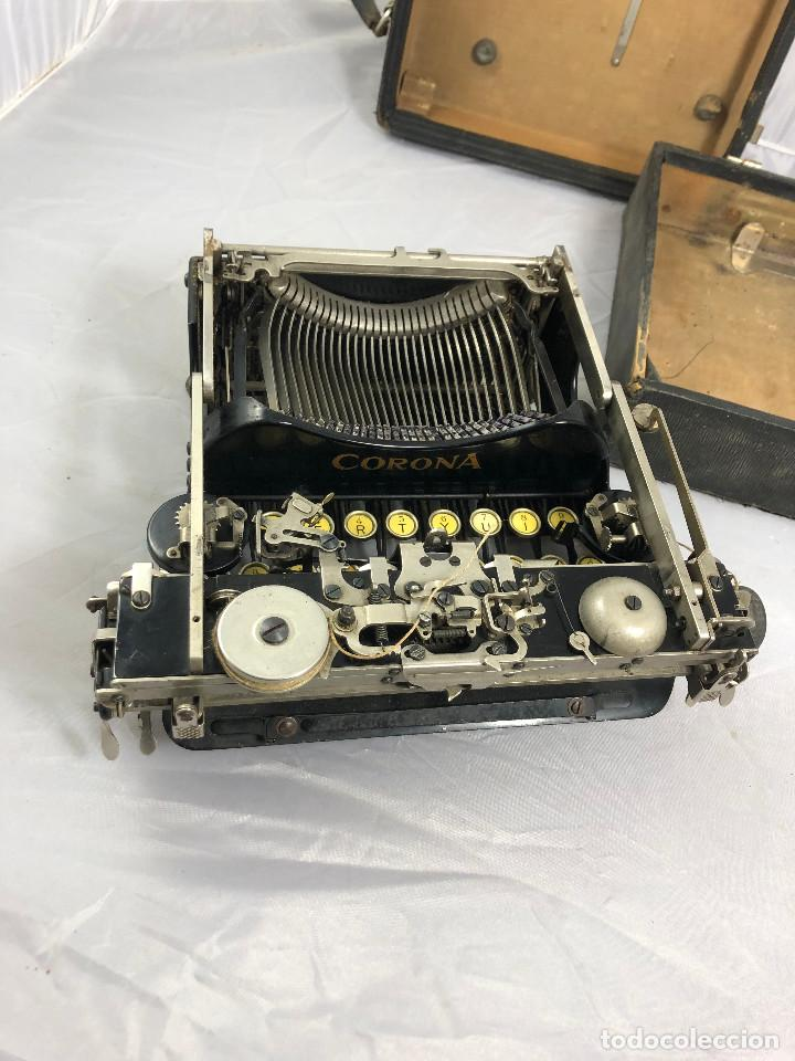 Antigüedades: Antigua maquina de escribir Corona Typewriter company, 3, portatil plegable. con caja original. - Foto 10 - 277738138