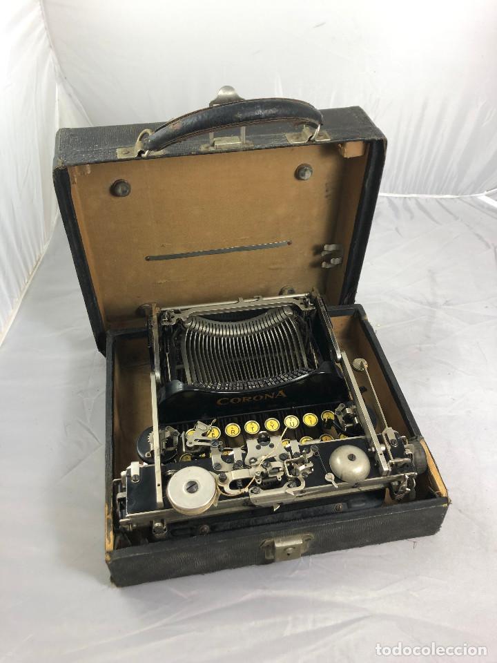 Antigüedades: Antigua maquina de escribir Corona Typewriter company, 3, portatil plegable. con caja original. - Foto 11 - 277738138