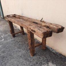 Antigüedades: BANCO DE CARPINTERO , SIN RESTAURAR. Lote 277843703