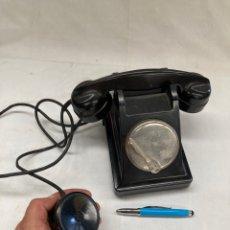 Teléfonos: ANTIGUO Y BONITO TELEFONO BAQUELITA!DE PALANCA!. Lote 277850113