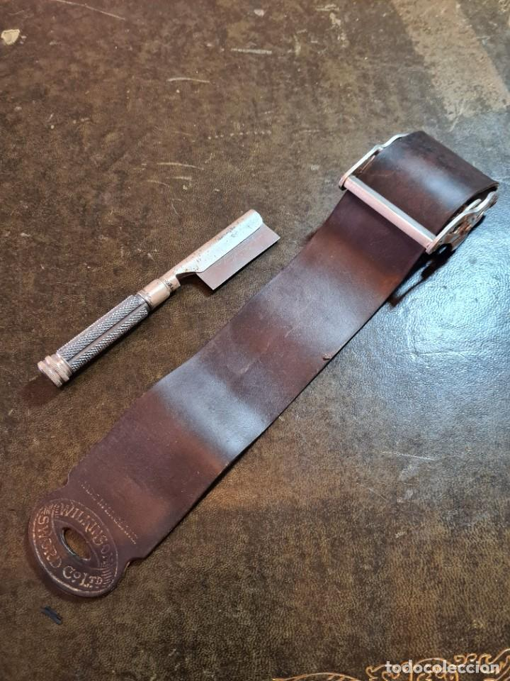 Antigüedades: Magnífica maquinilla de afeitar WILKINSON, con 7 cuchillas, una para dia de la semana, original. - Foto 9 - 278163603