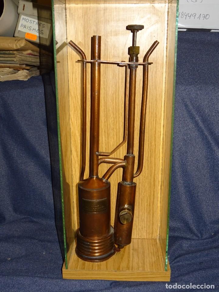 (M) INSTRUMENTO PARA GAS LINDE HOLLRIEGELSKREUSTH MUNCHEN, INSTRUMENTO DE COBRE, 37X13,5CM (Antigüedades - Técnicas - Herramientas Profesionales - Electricidad)