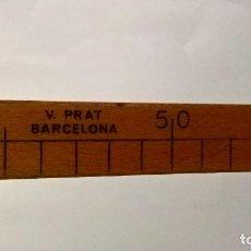 Antigüedades: VARA DE MEDIR DE 1 METRO. S.XIX. V. PRAT BARCELONA. Lote 278196713