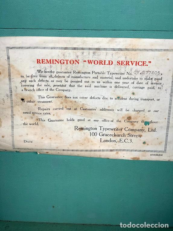 Antigüedades: Remington Modelo 5 Máquina de Escribir Portátil - años 20 - Foto 2 - 278200903