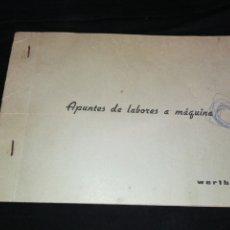 Antigüedades: LIBRO ANTIGUO BORDADOS A MÁQUINA WERTHEIM. 10 PÁGINAS. Lote 278271198