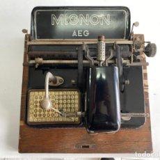 """Antigüedades: MAQUINA DE ESCRIBIR MIGNON """"AEG"""". Lote 278278963"""