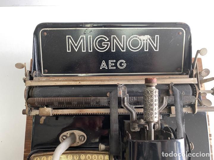 """Antigüedades: maquina de escribir MIGNON """"AEG"""" - Foto 7 - 278278963"""