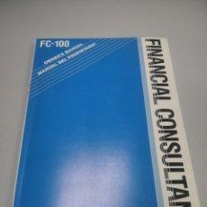 Antigüedades: CASIO FC-100 MANUAL DEL PROPIETARIO. Lote 278288518