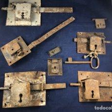 Antigüedades: LOTE DE CERRADURAS ANTIGUAS PARA DECORACIÓN. Lote 278328813