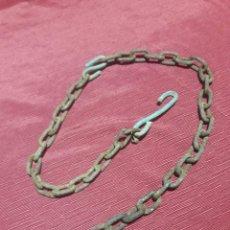 Antigüedades: ANTIGUA CADENA CON GANCHO. Lote 278396008