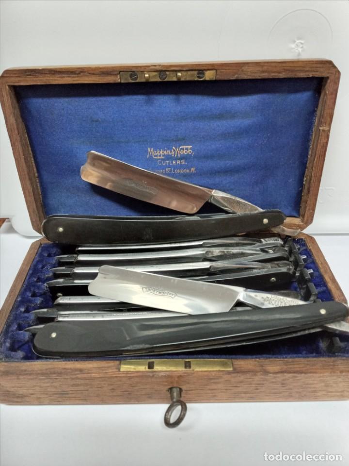 Antigüedades: Navaja de afeitar de barbero en barbería - Foto 2 - 278496473