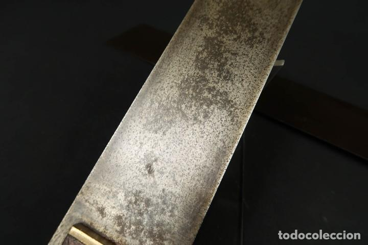 Antigüedades: Lote Dos Antiguas Escuadras Inglesas de Hierro Madera y Bronce - Foto 8 - 278498993