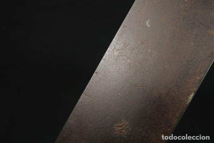 Antigüedades: Lote Dos Antiguas Escuadras Inglesas de Hierro Madera y Bronce - Foto 19 - 278498993