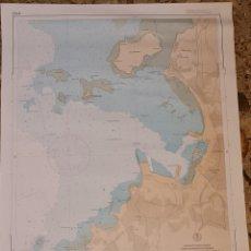 Antigüedades: ANTIGUA CARTA NAUTICA DEL PUERTO DE VILLAGARCIA DE AROSA. EDICIÓN 1995. Lote 278534403