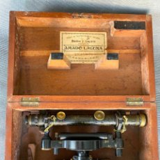 Antigüedades: NIVEL TOPOGRAFICO LOUIS CASELLA LONDON , 1890 , AMADO LAGUNA , ZARAGOZA , INSTRUMENTO. Lote 278584843