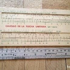 Antigüedades: REGLA DE CALCULO RESORTE CILÍNDRICO-CÁLCULO DE LA FLECHA UNITARIA. Lote 278813988