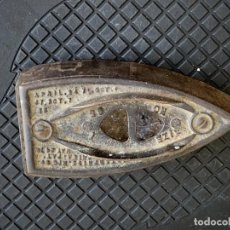 Antigüedades: ANTIGUA BASE PLANCHA HIERRO MARCAS ENTERPRISE PHILADELPHIA EEUU USA FIN S XIX PPIO S XX 5X16X8CMS. Lote 278822333