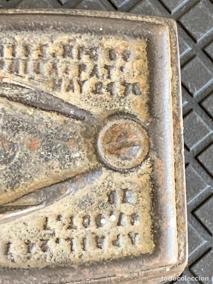 Antigüedades: ANTIGUA BASE PLANCHA HIERRO MARCAS ENTERPRISE PHILADELPHIA EEUU USA FIN S XIX PPIO S XX 5X16X8CMS - Foto 12 - 278822333