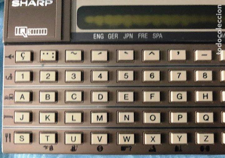 Antigüedades: Antigua calculadora SHARQ IQ3100, con su funda - Foto 11 - 279378793