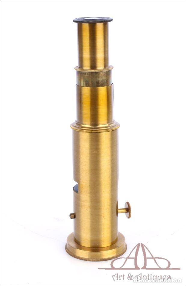 Antigüedades: Pequeño Microscopio de Tambor Francés. Circa 1890 - Foto 5 - 279524973