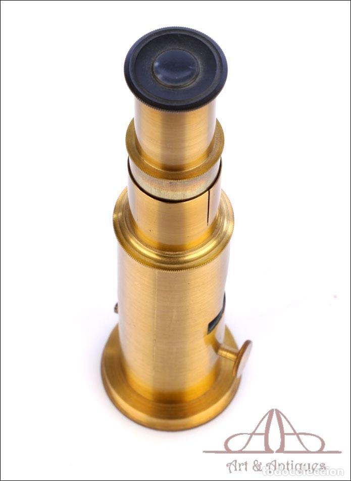 Antigüedades: Pequeño Microscopio de Tambor Francés. Circa 1890 - Foto 7 - 279524973