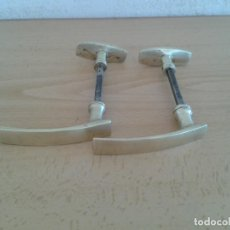 Antigüedades: 2 MANILLA MANETA MANIVELA POMO BRONCE 10. Lote 280321488