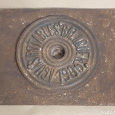 Antigüedades: REGISTRO HIERRO AGUAS POTABLES BALAGUER FECHADO 1905 PRINCIPIOS SIGLO XX LA NOGUERA LLEIDA. Lote 280375088