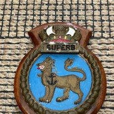 Antigüedades: METOPA HMS SUPERB- 1907 ACORAZADO - ROYAL NAVY. Lote 280393033