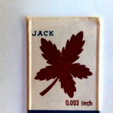 Antigüedades: HOJA DE AFEITAR ANTIGUA,CANUCK JACK,SIN USAR.. Lote 280503283