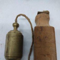 Antigüedades: ANTIGUA PLOMADA DE ALBAÑILERIA.CARPINTERIA. Lote 280780198