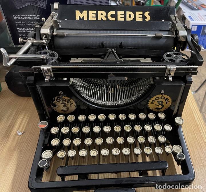 MAQUINA DE ESCRIBIR MERCEDES. (Antigüedades - Técnicas - Máquinas de Escribir Antiguas - Mercedes)