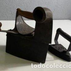 Antigüedades: ANTIGUA PLANCHA DE CARBÓN Y PLANCHA DE HIERRO. Lote 283063168