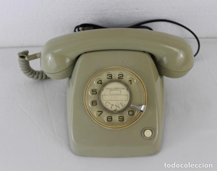 TELÉFONO HERALDO CITESA MÁLAGA CTNE CON BOTÓN AÑOS 60 (Antigüedades - Técnicas - Teléfonos Antiguos)