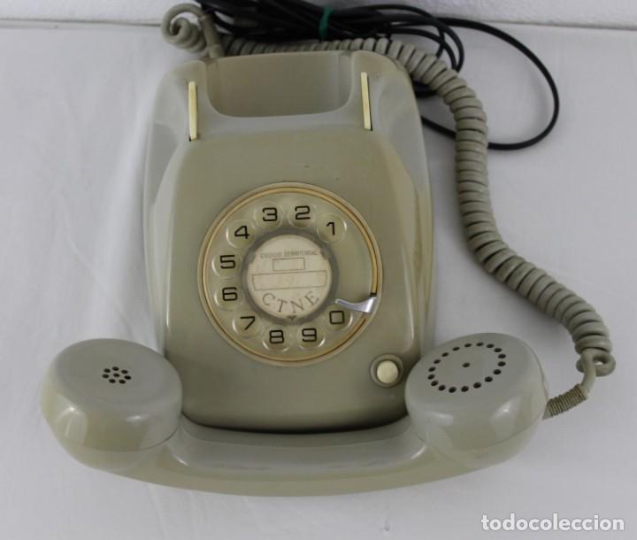 Teléfonos: Teléfono Heraldo Citesa Málaga CTNE con botón años 60 - Foto 3 - 283064598