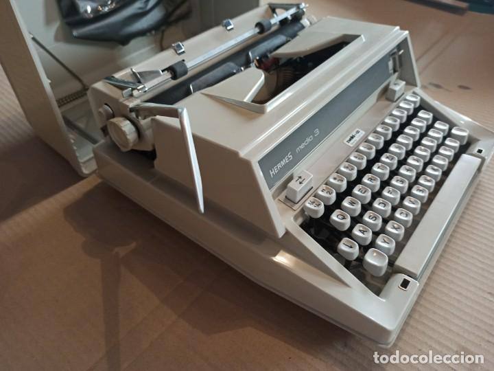 Antigüedades: Máquina de escribir HERMES suiza - Foto 4 - 283081218
