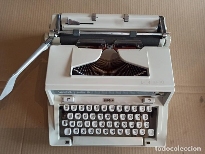 Antigüedades: Máquina de escribir HERMES suiza - Foto 6 - 283081218