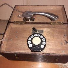 Telefones: ANTIFUGUO TELEFONO DE MADERA , VER FOTOS ...... Lote 283390168
