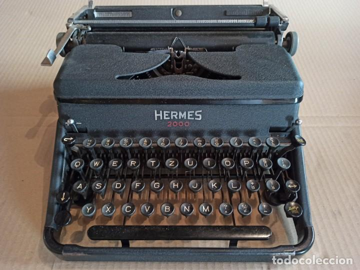MÁQUINA DE ESCRIBIR HERMES 2000 SUIZA (Antigüedades - Técnicas - Máquinas de Escribir Antiguas - Hermes)