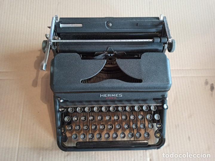 Antigüedades: Máquina de escribir HERMES 2000 suiza - Foto 4 - 283643328