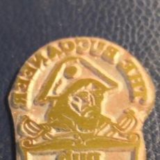 Antigüedades: ANTIGUO CLICHÉ TIPOGRÁFICO, PLANCHA MATRIZ METÁLICA PUB. Lote 283711718