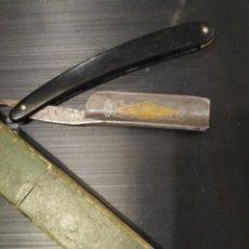Antiquités: RARA NAVAJA DE AFEITAR DECORADA VIUDA DE GABALDON UTIEL.. Lote 284245523
