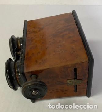 Antigüedades: Antiguo Visor Estereoscópico - Madera de Calidad - Funcionando - Foto 2 - 284266148