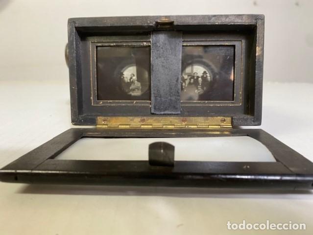 Antigüedades: Antiguo Visor Estereoscópico - Madera de Calidad - Funcionando - Foto 4 - 284266148