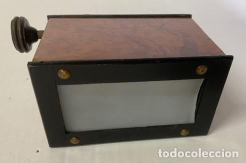 Antigüedades: Antiguo Visor Estereoscópico - Madera de Calidad - Funcionando - Foto 5 - 284266148