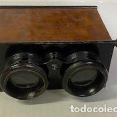 Antigüedades: ANTIGUO VISOR ESTEREOSCÓPICO - MADERA DE CALIDAD - FUNCIONANDO. Lote 284266148