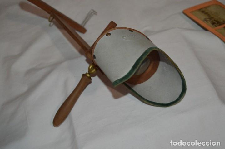 Antigüedades: Antiguo/vintage / Visor Estereoscópico + 2 VISTAS / En caja - ¡Funcionando, estado IMPECABLE, MIRA! - Foto 4 - 284365088